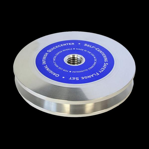 "Infinish QuickCenter. 4.5"" Self Centering Safety Flange, Threaded"